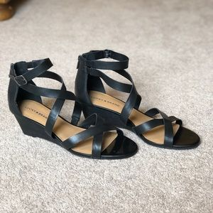 Size 12 Lucky Brand Wedge Sandals - Never Worn